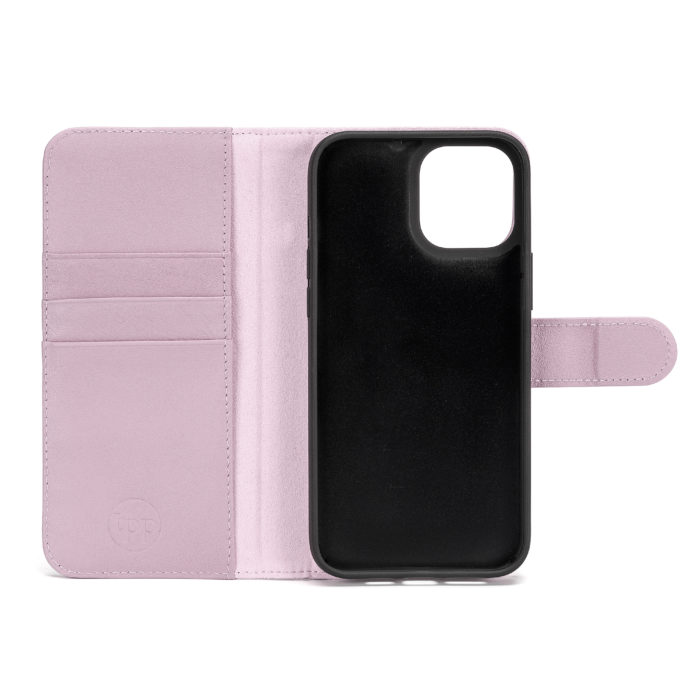 iPhone 12 Leather Wallet Case- Purple