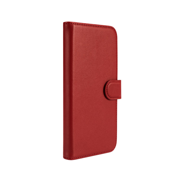 iPhone 12 Leather Wallet Case- Red