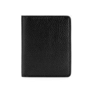 Compact Wallet- Grain Black