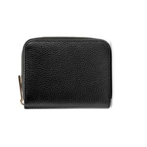 Compact Zip Wallet- Black
