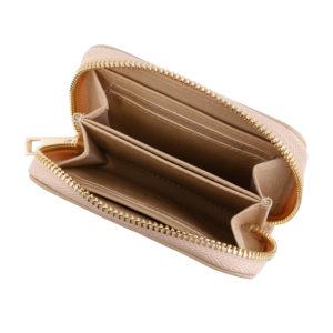 Compact Zip Wallet- Nude