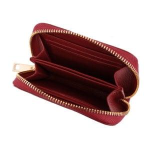 Compact Zip Wallet- Red