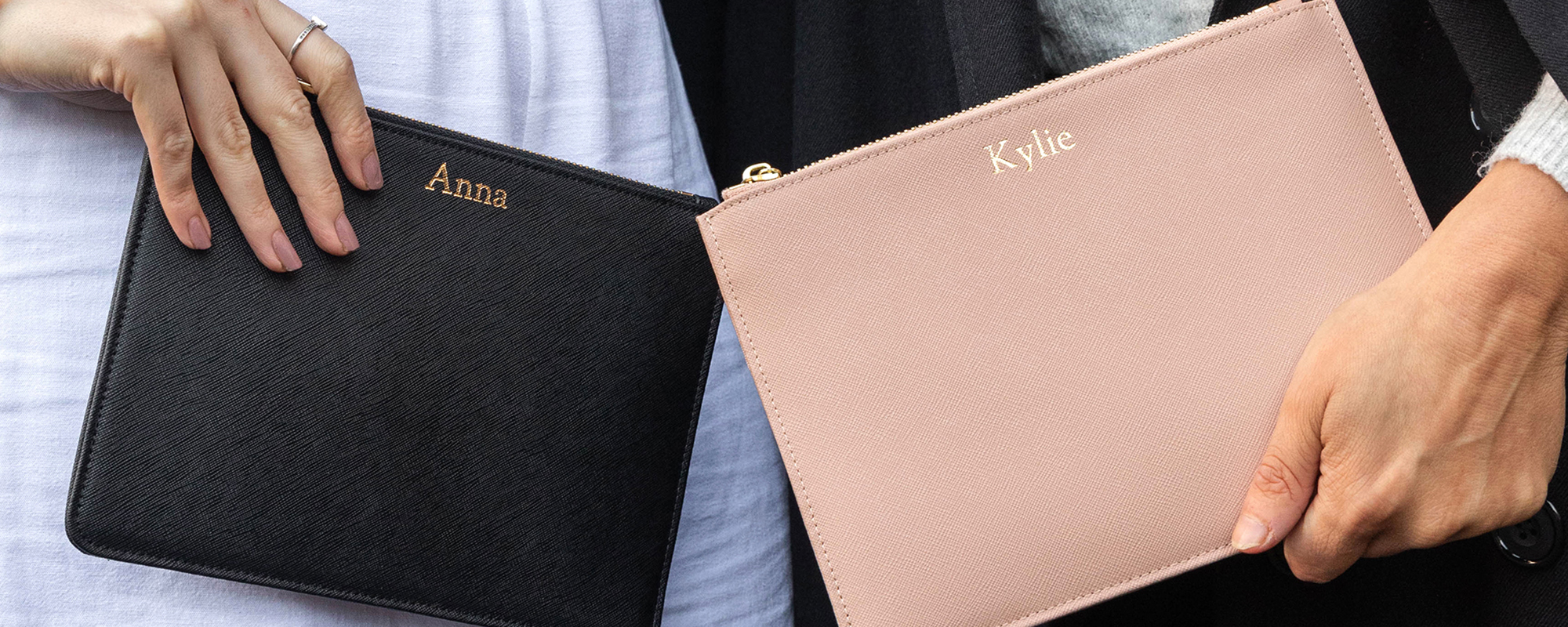 Personalised Leather Pouches