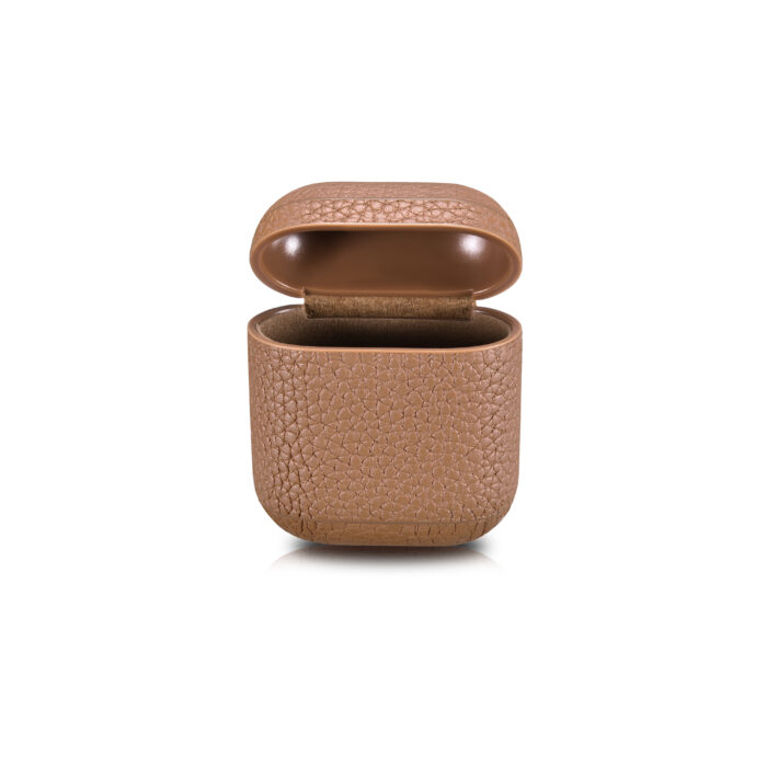 AirPods Leather Case- Grain Brown