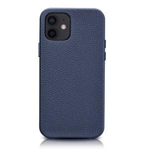 iPhone 12 Full Wrap Case - Grain Navy Blue