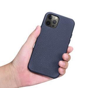 iPhone 12 Pro Max Full Wrap Case - Grain Navy Blue