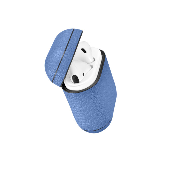 AirPods Leather Case- Grain Blue