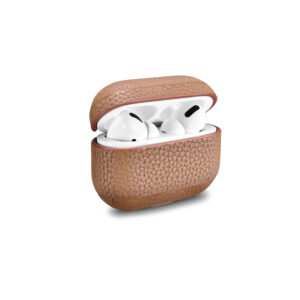 AirPods Pro Leather Case- Grain Brown