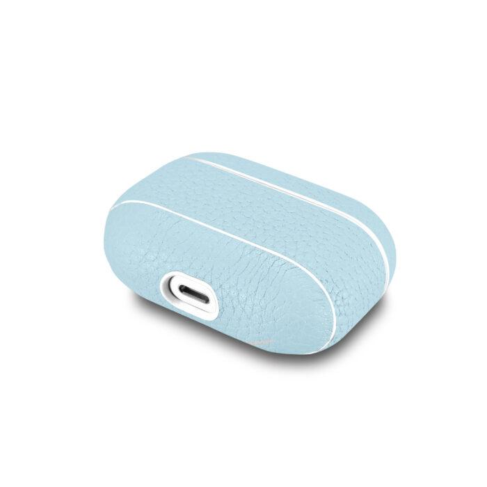 AirPods Pro Leather Case- Grain Aqua