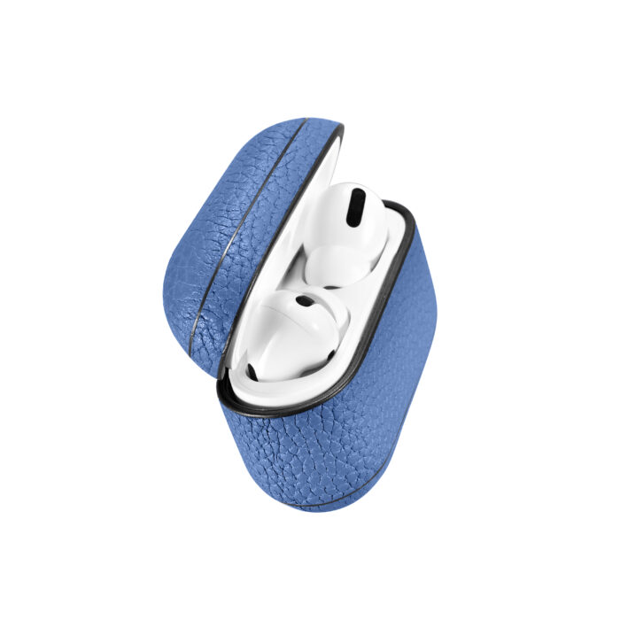 AirPods Pro Leather Case- Grain Blue