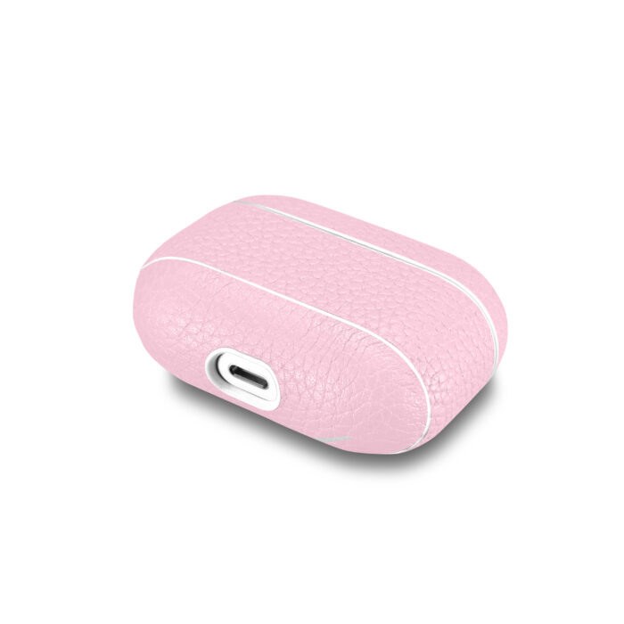 AirPods Pro Leather Case- Grain Pink