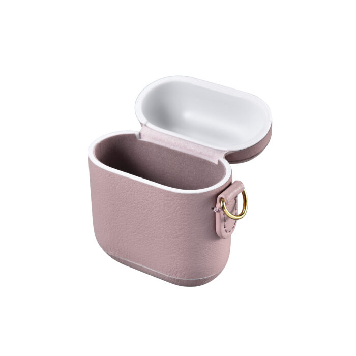 AirPods Leather Case with Strap- Blush Nude