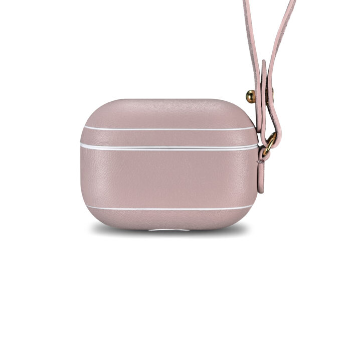 AirPods Pro Leather Case with Strap- Blush Nude