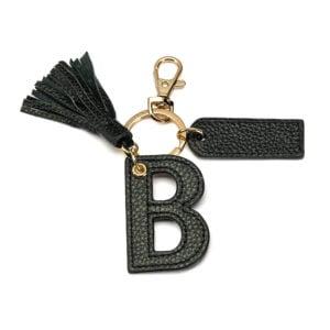 Letter B Keychain- Black
