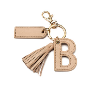 Letter B Keychain- Nude