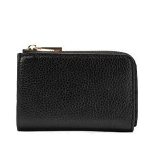 Leather Key Pouch- Black
