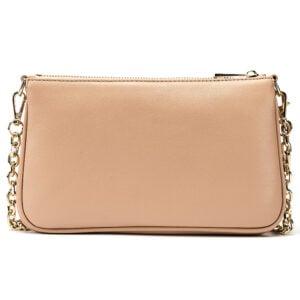 Leather Shoulder Bag- Nude