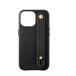 iPhone 13 Pro Max Letter Strap Case- Black