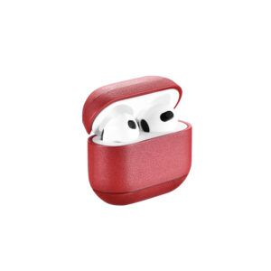 AirPods 3 (3rd Generation) Leather Case- Red