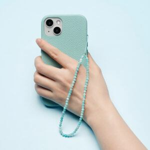 Crystal Beaded Phone Charm- Amazonite
