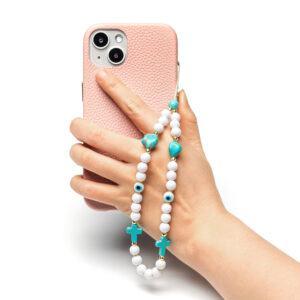 Beaded Phone Charm- Le Rosaire