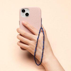 Crystal Beaded Phone Charm- Lapis Lazuli