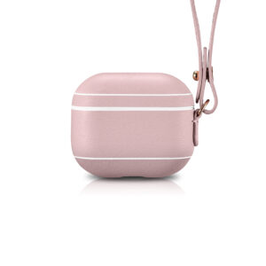 AirPods 3 (3rd Generation) Leather Case with Strap- Blush Nude