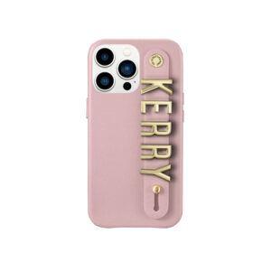 iPhone 13 Pro Max Letter Strap Case- Blush Nude