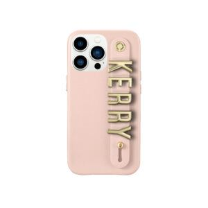 iPhone 13 Pro Letter Strap Case- Nude