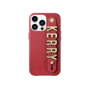 iPhone 13 Pro Max Letter Strap Case- Red