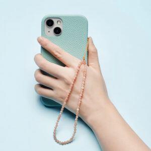Crystal Beaded Phone Charm- Sunstone